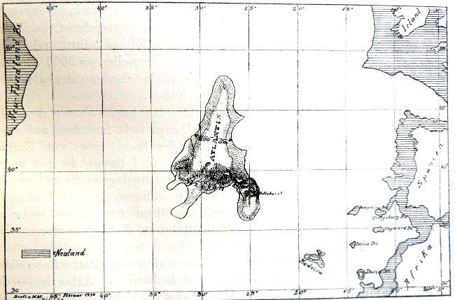 Die Erste Exakte Landkarte Von Atlantis